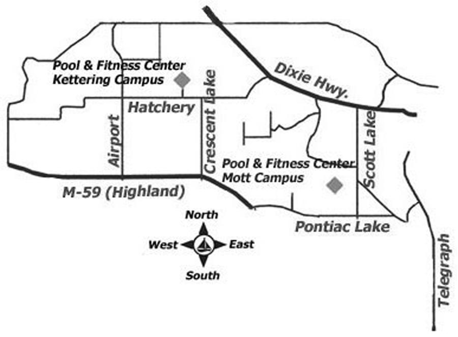 Pool and Fitness Center Locations Map